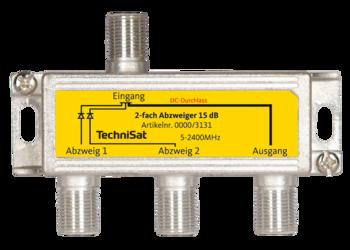 2-fach Sat-Abzweiger 15 dB