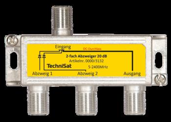 2-fach-Sat-Abzweiger 20 dB
