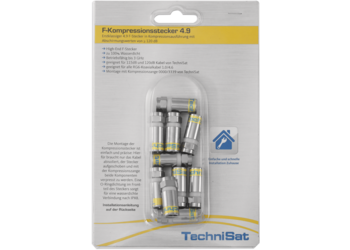 F Compression connector pack 4.9